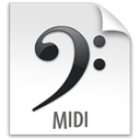 File, document, paper, midi WhiteSmoke icon