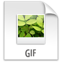 Gif, File, paper, document Gainsboro icon