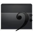 music, Folder DarkSlateGray icon