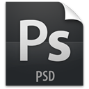 Psd, document, paper, File DarkSlateGray icon