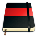 Moleskine, red Black icon