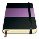 violet, Moleskine Black icon