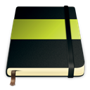 green, Journal, Moleskine, Notebook Black icon