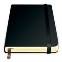 pure, Moleskine, Journal Black icon