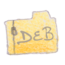 Deb, Filetype Black icon