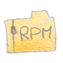Filetype, Rpm Black icon