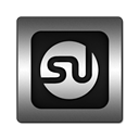 square, Logo, Stumbleupon Black icon