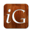 square, Logo, igooglr SaddleBrown icon