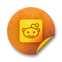 Logo, square, Reddit Black icon