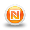 Logo, netvous, square Black icon