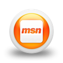 Msn, Logo, square Black icon