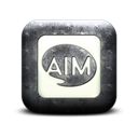 Logo, Aim, square Black icon