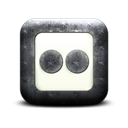 square, flickr Black icon