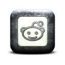 Reddit, square, Logo Black icon