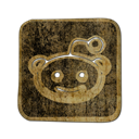 Logo, square, Reddit DarkOliveGreen icon