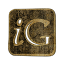 Logo, square, igooglr DarkOliveGreen icon