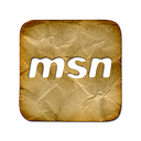 square, Msn, Logo Black icon