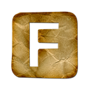 Fark, square Black icon