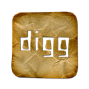 Logo, Digg, square Black icon