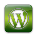 Wordpress, square, Logo Black icon