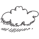 climate, weather, Cloud Black icon