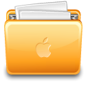 document, Folder, with, File, paper, Apple Khaki icon