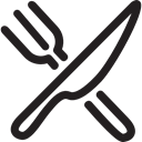 Knife, Knives, tool, Restaurant, Fork Black icon