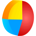pie, chart, graph DeepSkyBlue icon