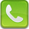 Tel, phone, telephone YellowGreen icon