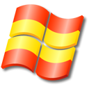 flag, spain, xp Black icon