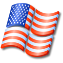 usa, flag, xp Black icon