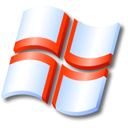 flag, England, xp Black icon