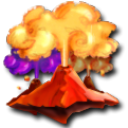 volcano SandyBrown icon