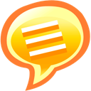 talk, Comment, Chat, speak Coral icon