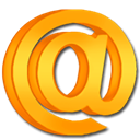 Email, Letter, Message, mail, envelop Orange icon