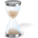 Wait, Hourglass, Sh Black icon