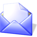 Sh, Letter, envelop, open, Message, Email, mail Lavender icon