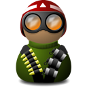 red, green, vision, night, helmet Black icon