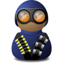 night, vision, Blue, uniform Icon