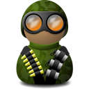 camouflage, night, green, vision Black icon