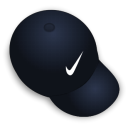 hat, nike Black icon