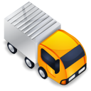 truck, Automobile, transport, transportation, vehicle Black icon