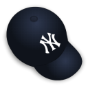 yankee, hat Black icon