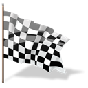 flag, Finish, Checkered, Goal, complete Black icon