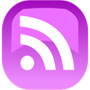 subscribe, Rss, feed Violet icon