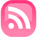subscribe, Rss, feed HotPink icon
