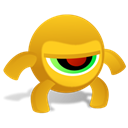 Anger, crazyeye Goldenrod icon