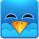 smile, Social, twitter, funny, Fun, Emotion, square, happy, social network, Emoticon, Sn DodgerBlue icon