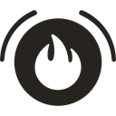 Circle, Firefighting, Flame, firefighter Black icon