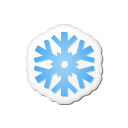 christmas, xmas, Snow Black icon